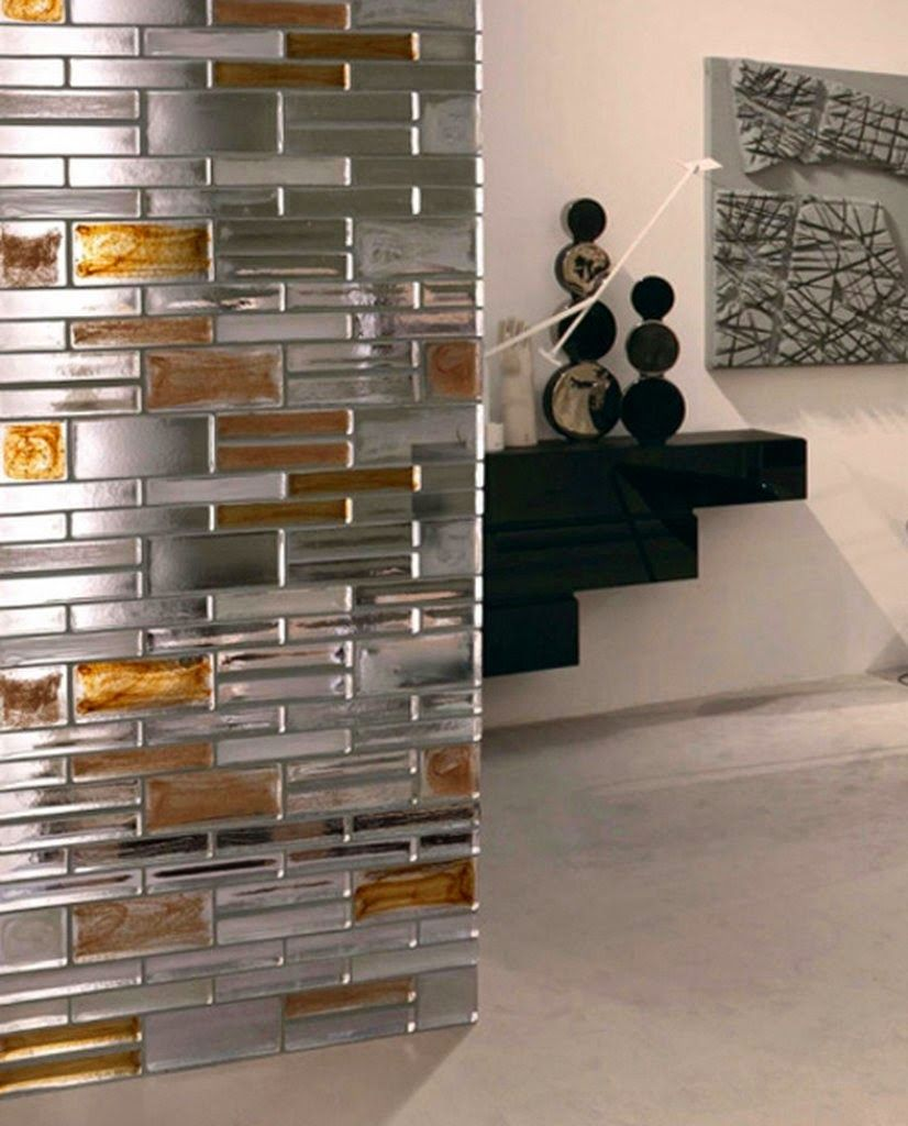 stylist and luxury room deviders. mirrored glass partition walls for modern luxury interior  Wall