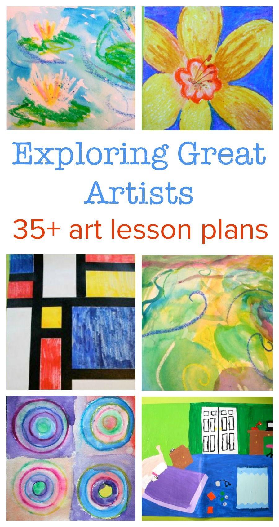 creative art lesson plans for preschoolers exploring great artists complete lesson plans 651