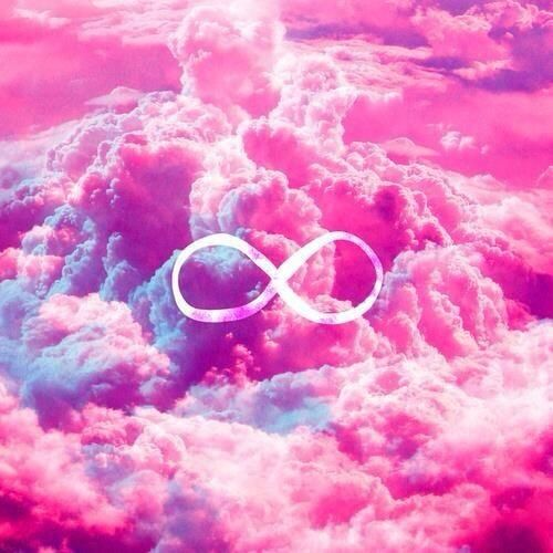 Bright Pink Pale Pink Blue Purple Infinity Symbol Clouds