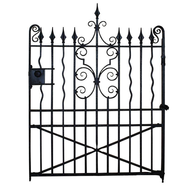 1stdibs A Well Made Edwardian Wrought Iron Garden Gate Wrought