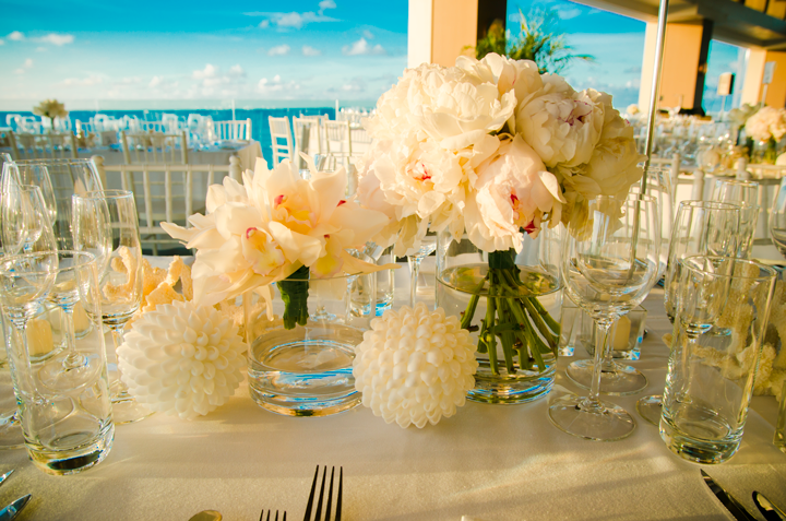 Pretty Table Settings Courtesy Of Black Orchid Florists In Anguilla.