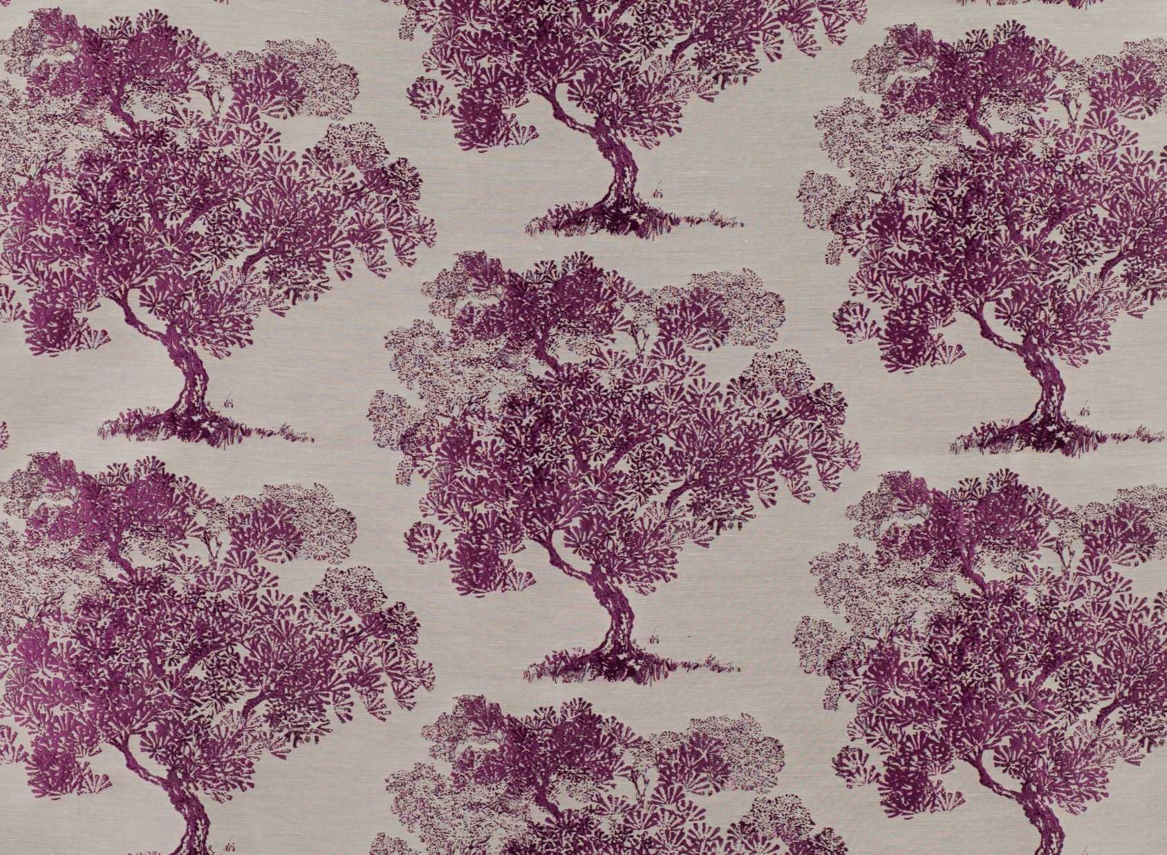 A Classic Oriental Tree Design Adapted From A Vintage Wallpaper