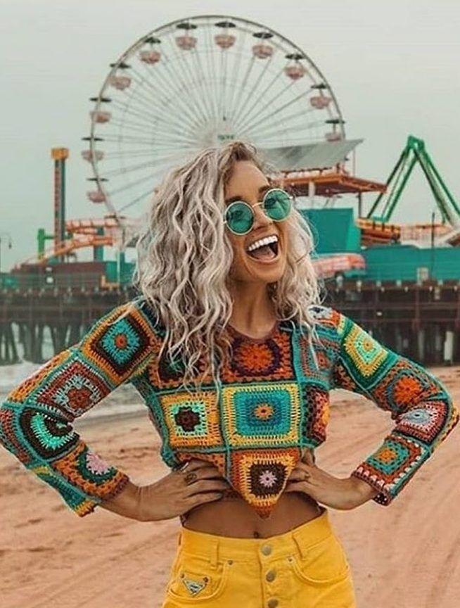 42 modèles de haut au crochet d'été gratuits pour Boho 2019