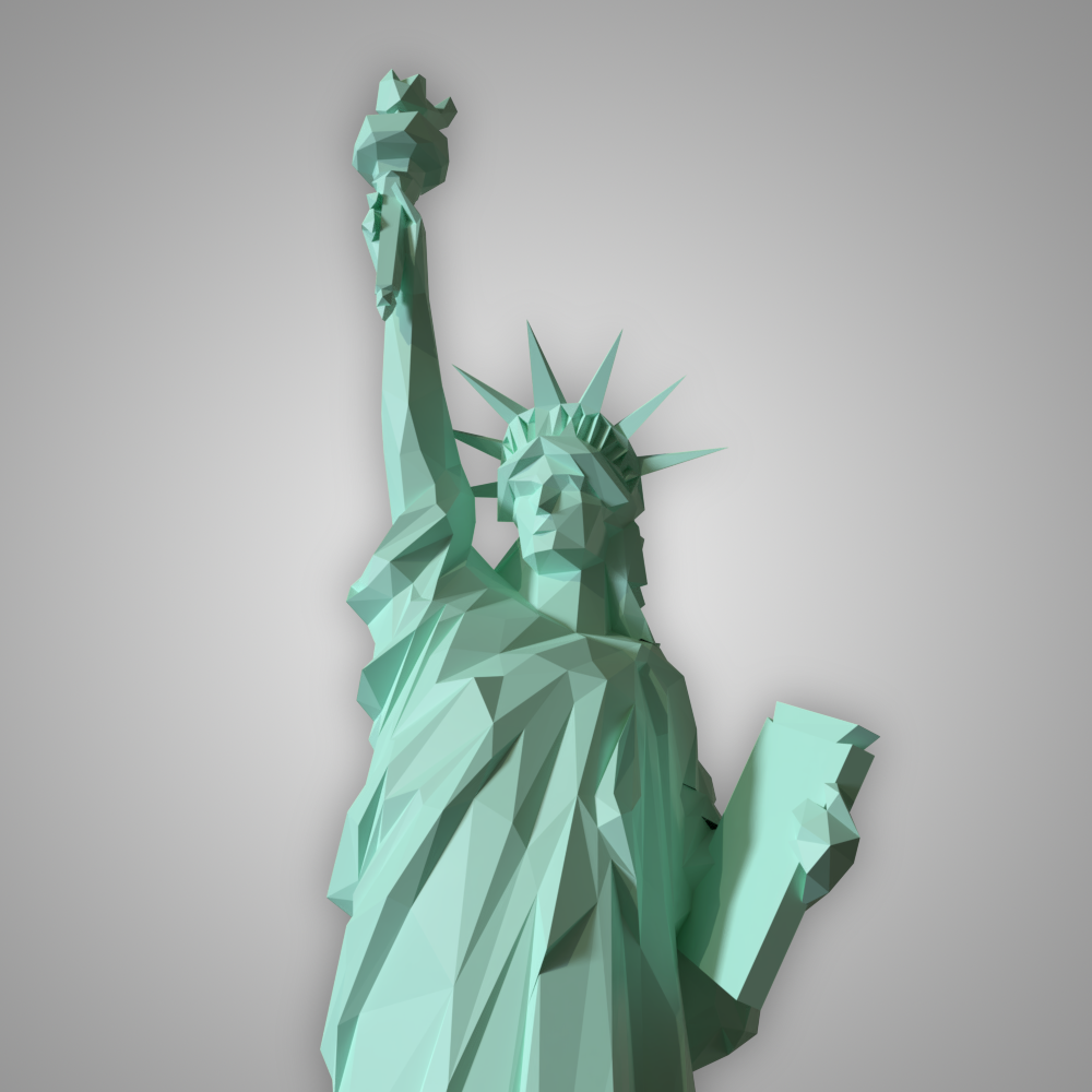 Low Poly Statue Of Liberty Statue Of Liberty Statue Liberty