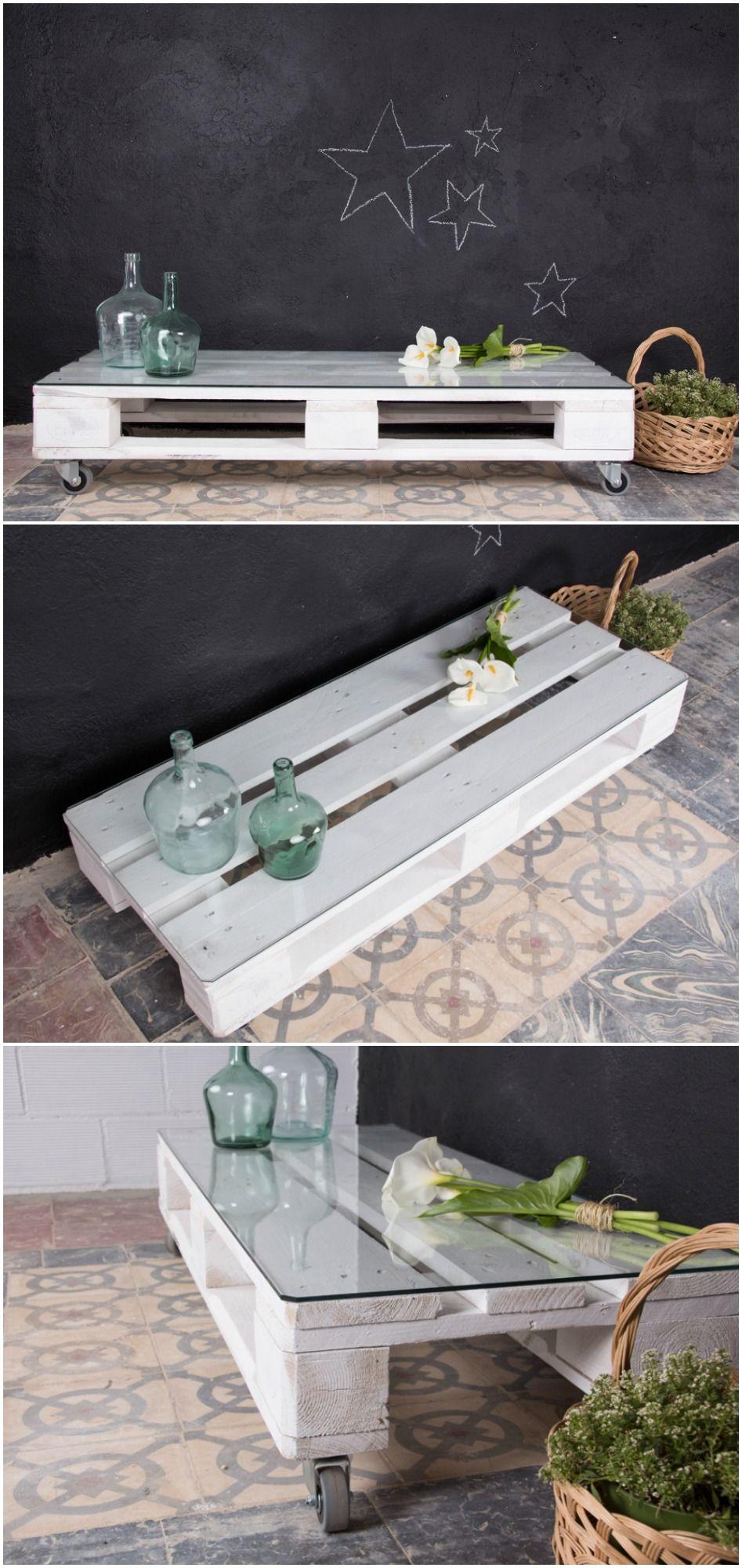 mesa de palets, mueble de palets, palets reciclados, mesa de pallet ...