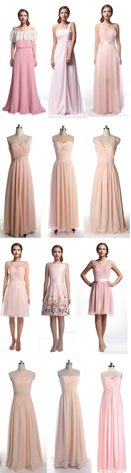 Pink Bridesmaid Dresses Blush Peach Gowns At Tulleandchantilly