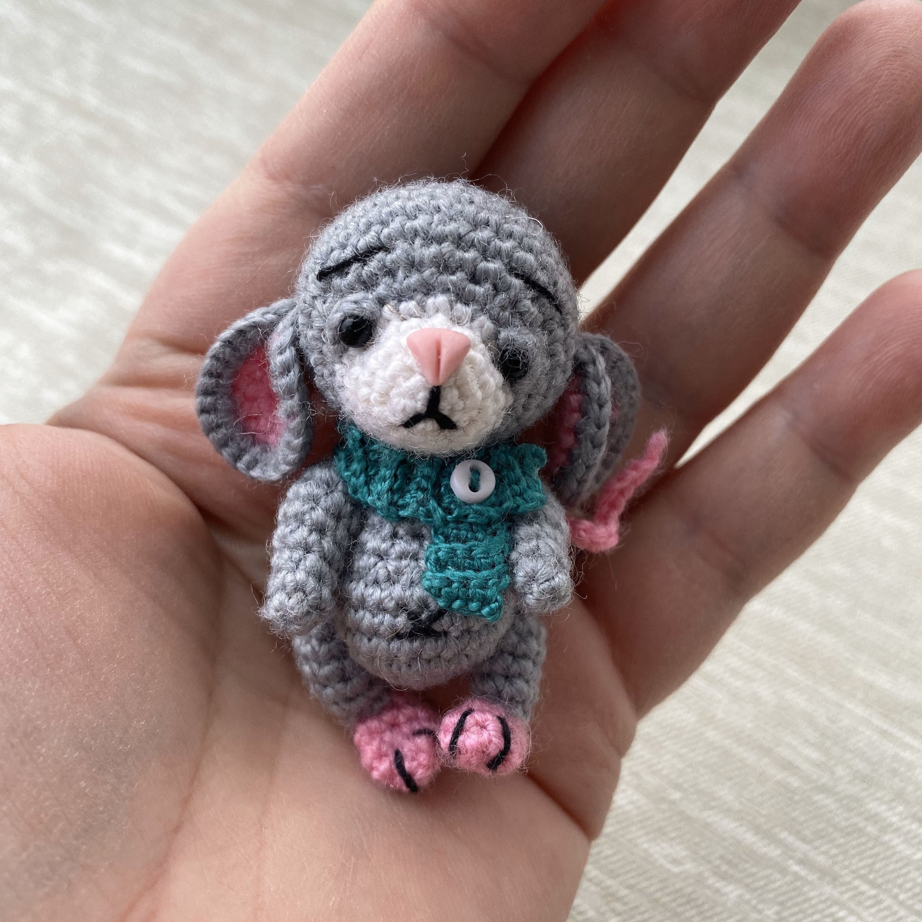 Crochet Tiny Mouse Amigurumi Free Patterns (With images) | Crochet ... | 3000x3000