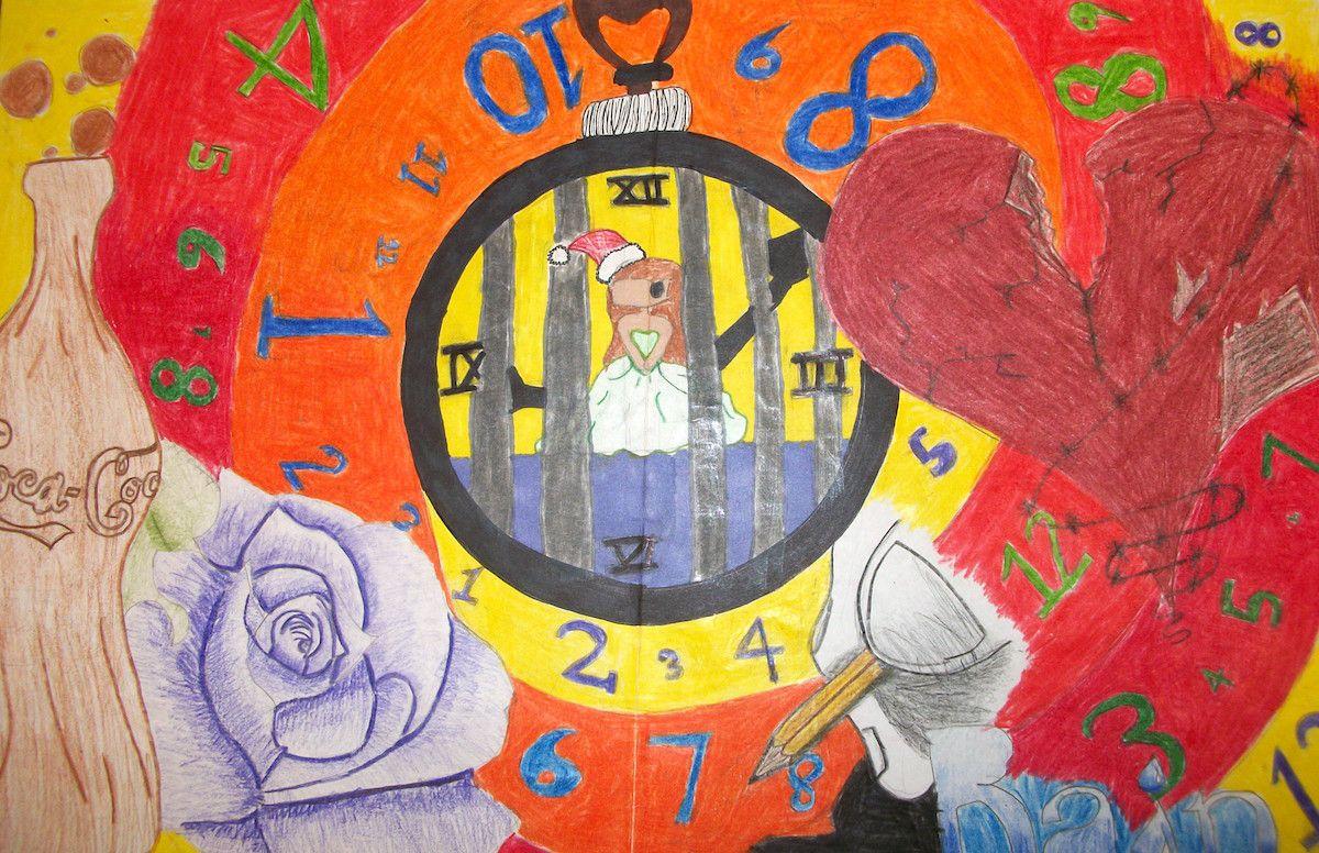 Student graffiti piece