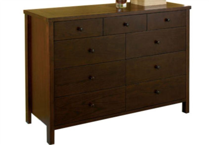 Furniture Village Delivery 6 plus 3 drawer chest - atlantis dark - beds & bedroom furniture