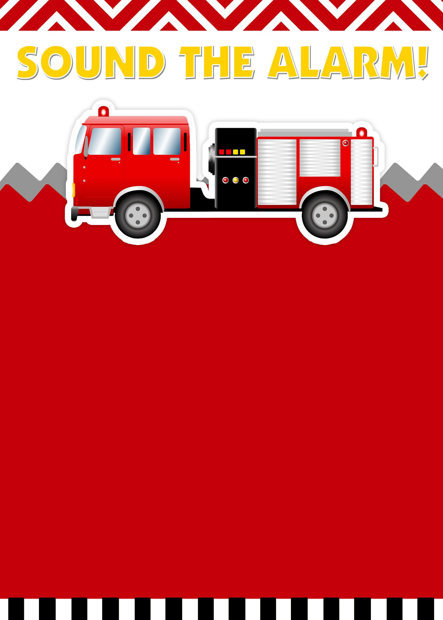 Fire Truck Birthday Party With Free Printables Parties Firefighter