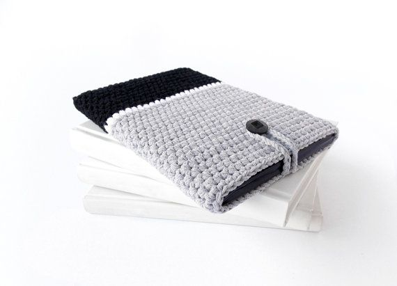 Grey BLACK Kindle Fire HD colorblock case iPad mini by PetiteLeRu, $24.00