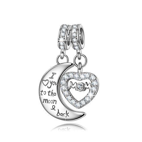 NINAQUEEN - Love Lock - 925 Sterling Silver Charms Nickel-free 8RSuLKn