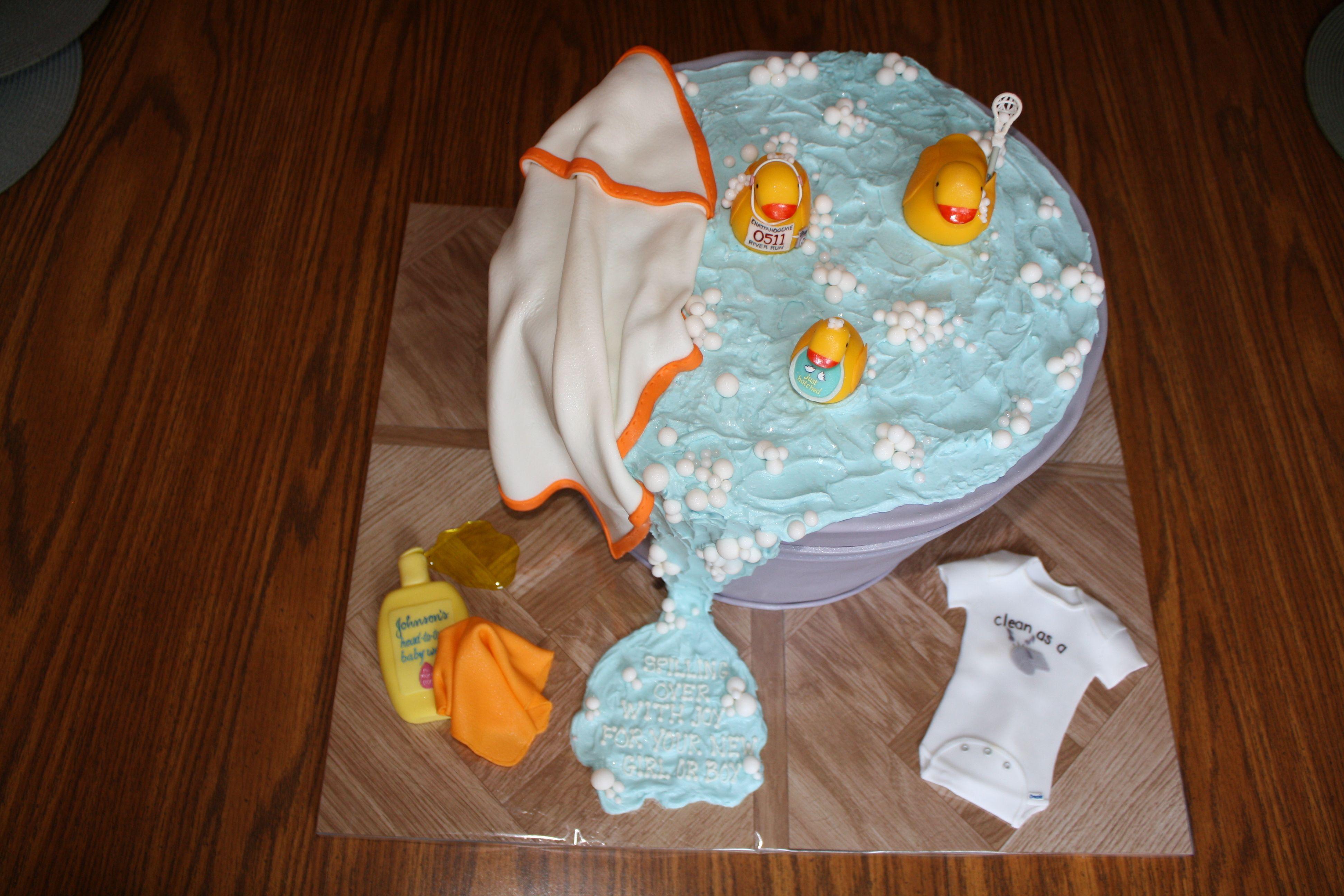 Rub-a-Dub-Dub, Three Ducks in a Tub...Duck Themed Baby Shower Cake ...