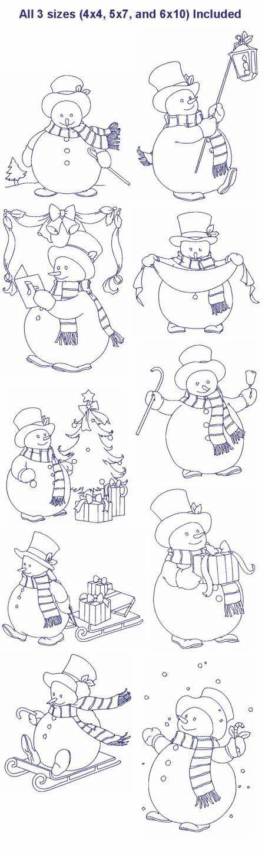 muñecos de nieve   Craft Embroidery   Pinterest   Nieve, Navidad y ...