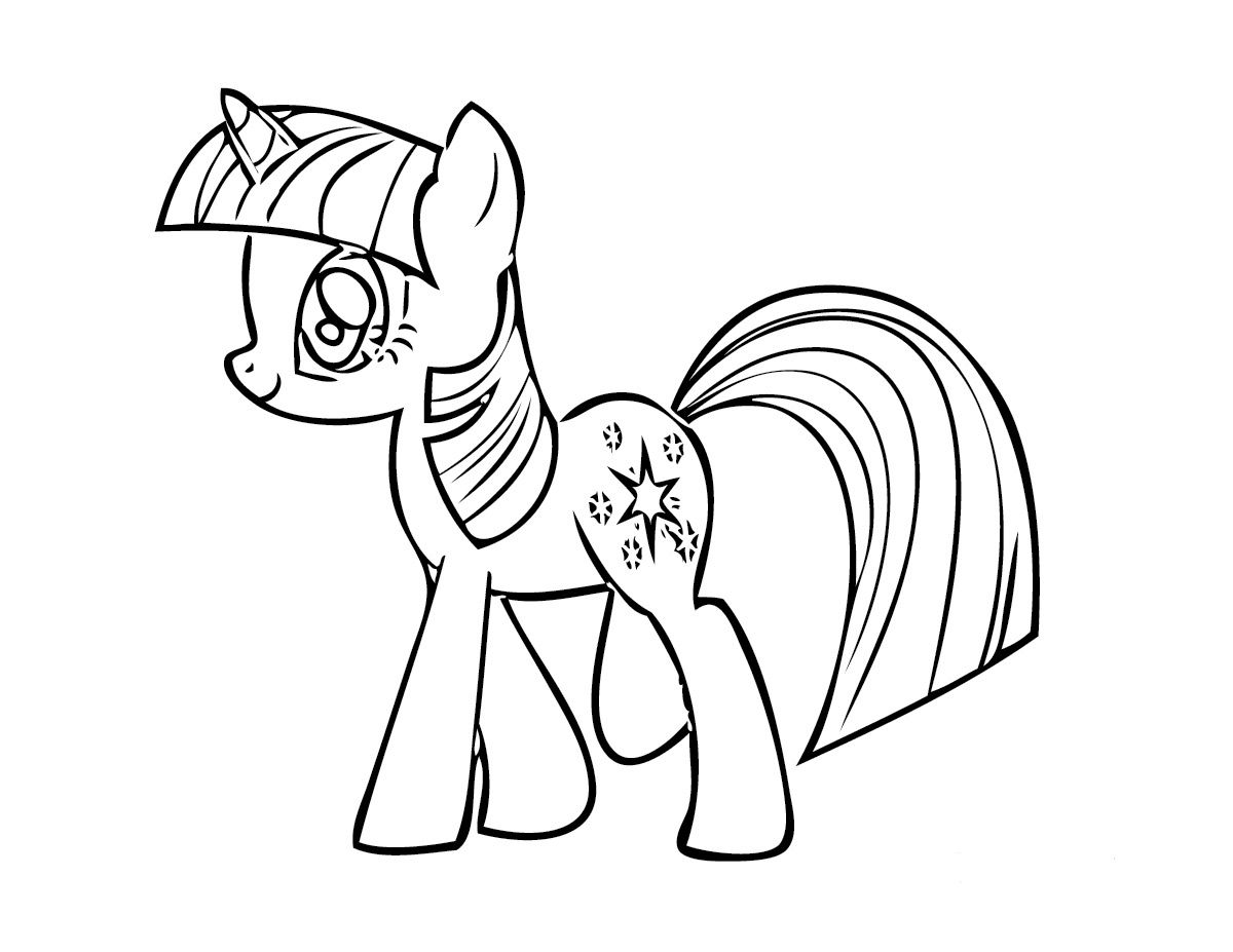 Kids Under 7: My Little Pony Coloring Pages | kid crafts | Pinterest