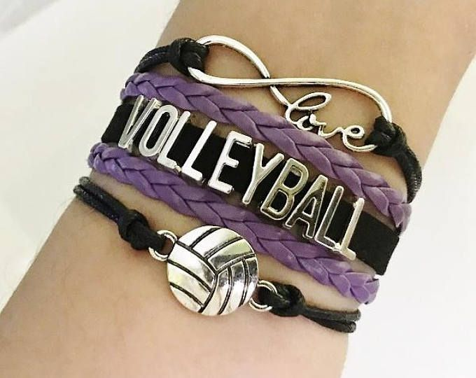 Volleyball Bracelet Volleyball Gift Volleyball Jewelry Volleyball Mom Gift Sports Team Jewelry Infinity Volleyball B Volleyball Gifts Volleyball Jewelry Volleyball Mom