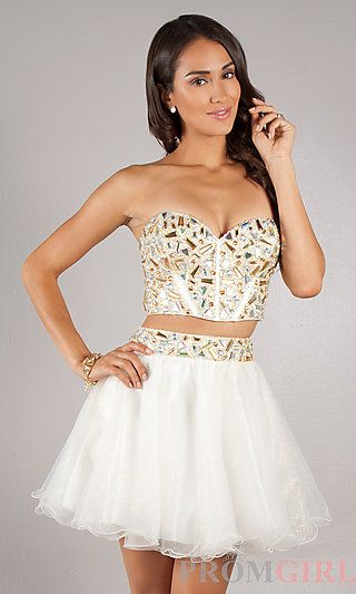 2a7c71127f Short Two Piece Prom Dress at PromGirl.com WAT IS THIS A 2 PIECE PROM DRESS  NOO