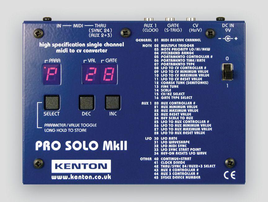 Kenton Pro Solo Mkii Signal Processor Kenton Solo