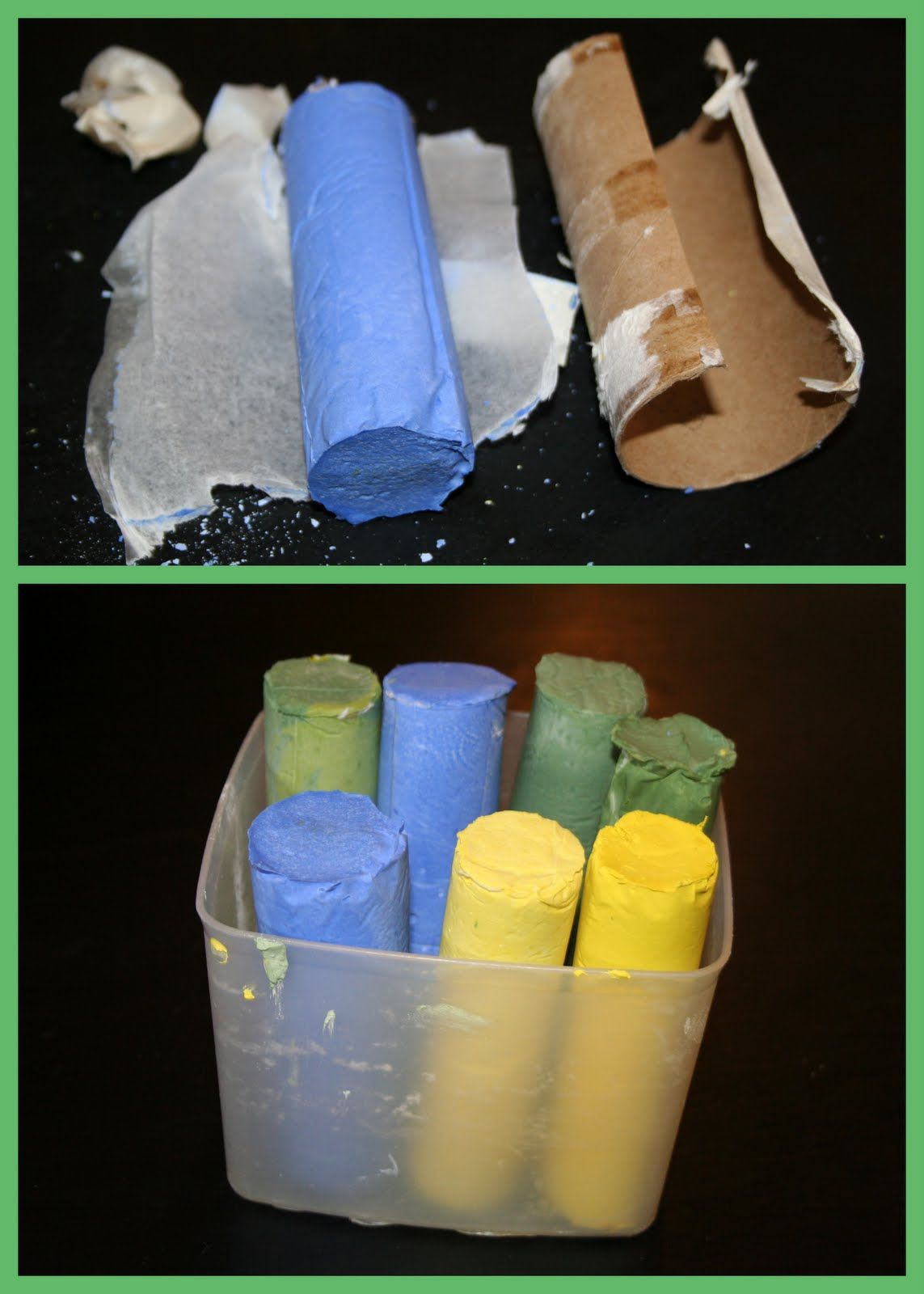 Making your own homemade sidewalk chalk is so simple and fun!  It is sturdier and less messy than the commercial chalk, which is great when ...