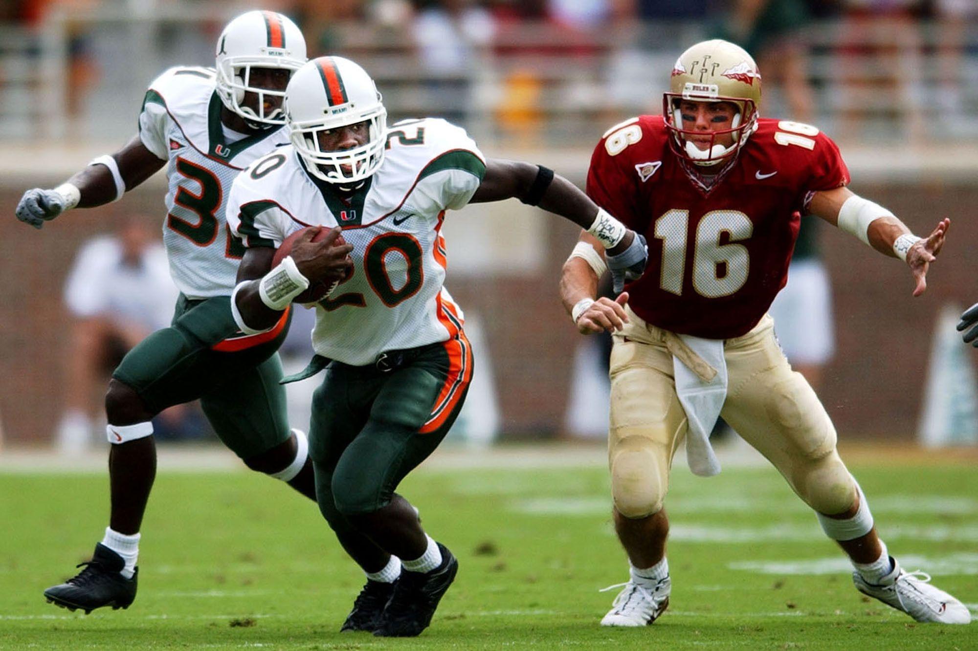 Safety U Ed Reed Hurricanes Football Miami Hurricanes