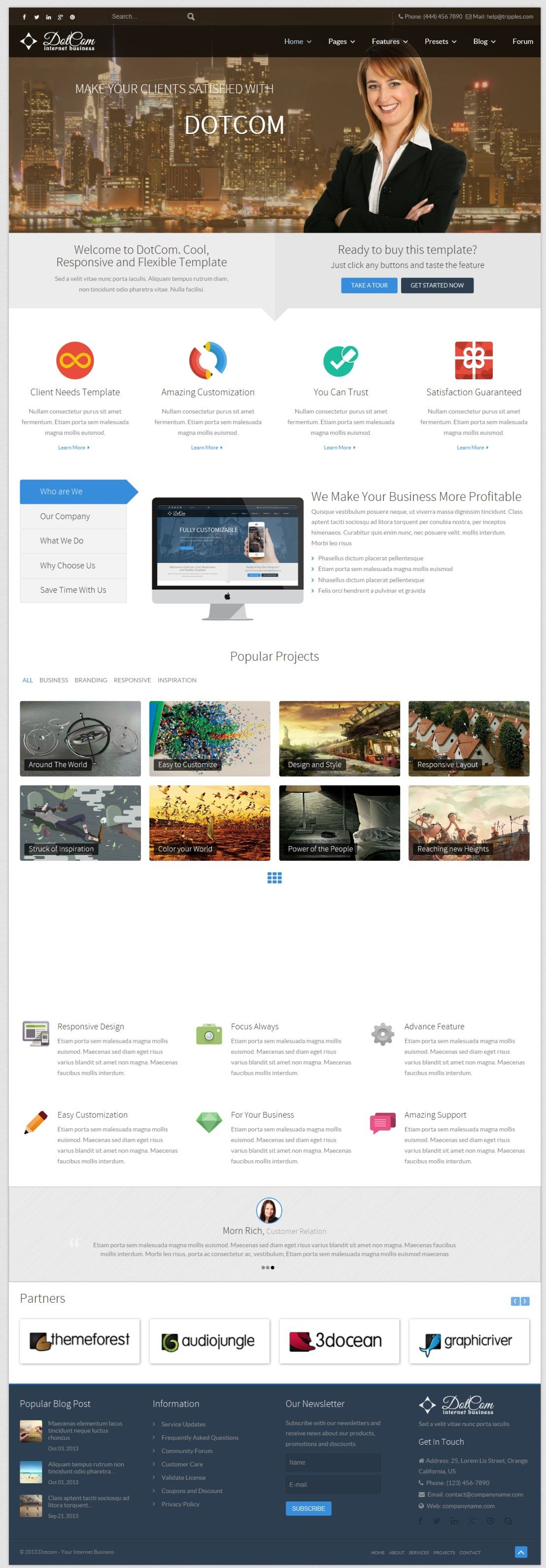 Dotcom Responsive Joomla Corporate Template More Info On Http