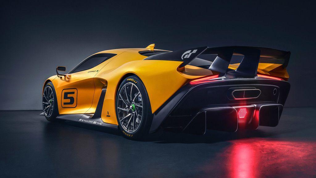 Fittipaldi Ef Vision Gran Turismo  Car Sports Car Rear View Wallpaper