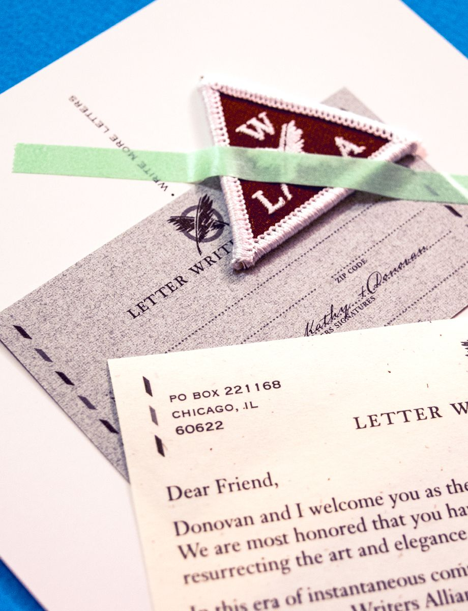 we have partnered with the letter writers alliance in order to spread the wonderment of physical mail from their site to get a letter send a letter