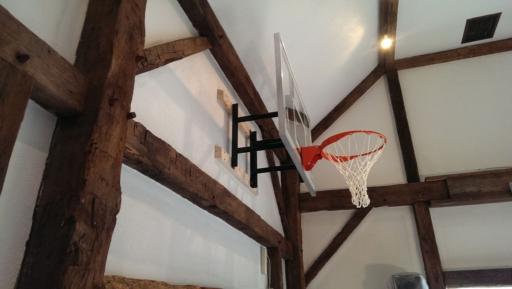 Hoops plus let the games begin basketball wall roof