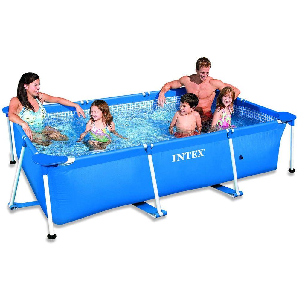 Family Swimming Pool Frame 220x150x60cm Schwimmbecken Planschbecken Von  INTEX