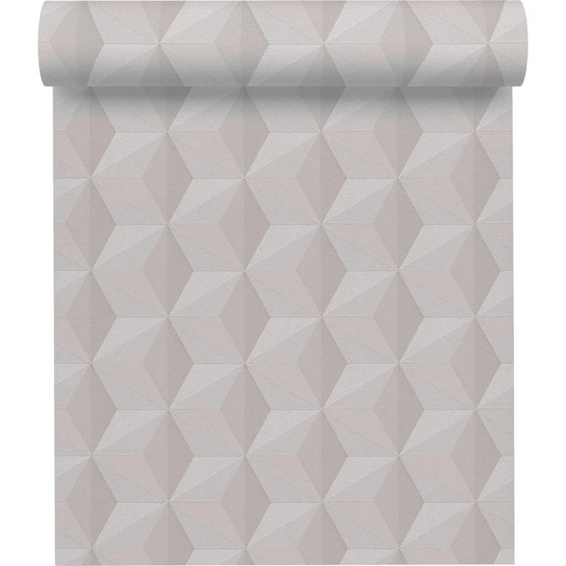 Papier Peint Vinyle Origami Paillette Gris Argent En 2020 Papier Peint Vinyle Gris Argent Papier Peint