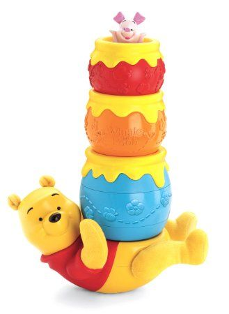 2497443fe8fc Amazon.com   Fisher-Price Disney s Winnie the Pooh Honey Pot Stackers    Sorting And Stacking Baby Toys   Baby