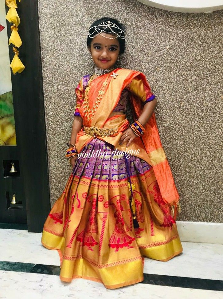 Kids kamchi lehanga   Kids designer dresses, Dresses kids ...