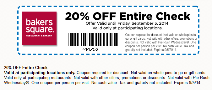 Like Bakers Square coupons? Try these...