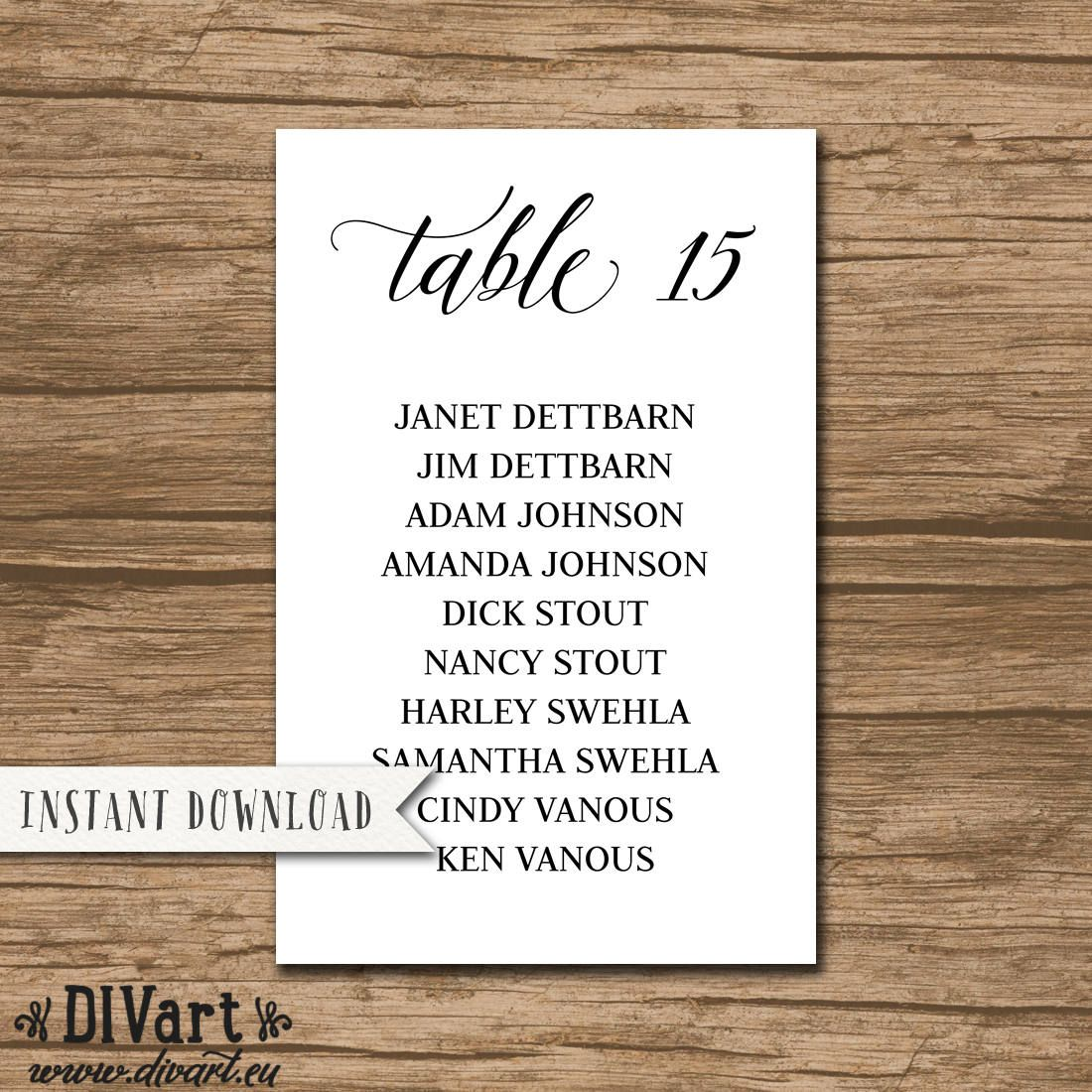 Wedding Seating Chart Wedding Seating Plan Rustic Seating Chart
