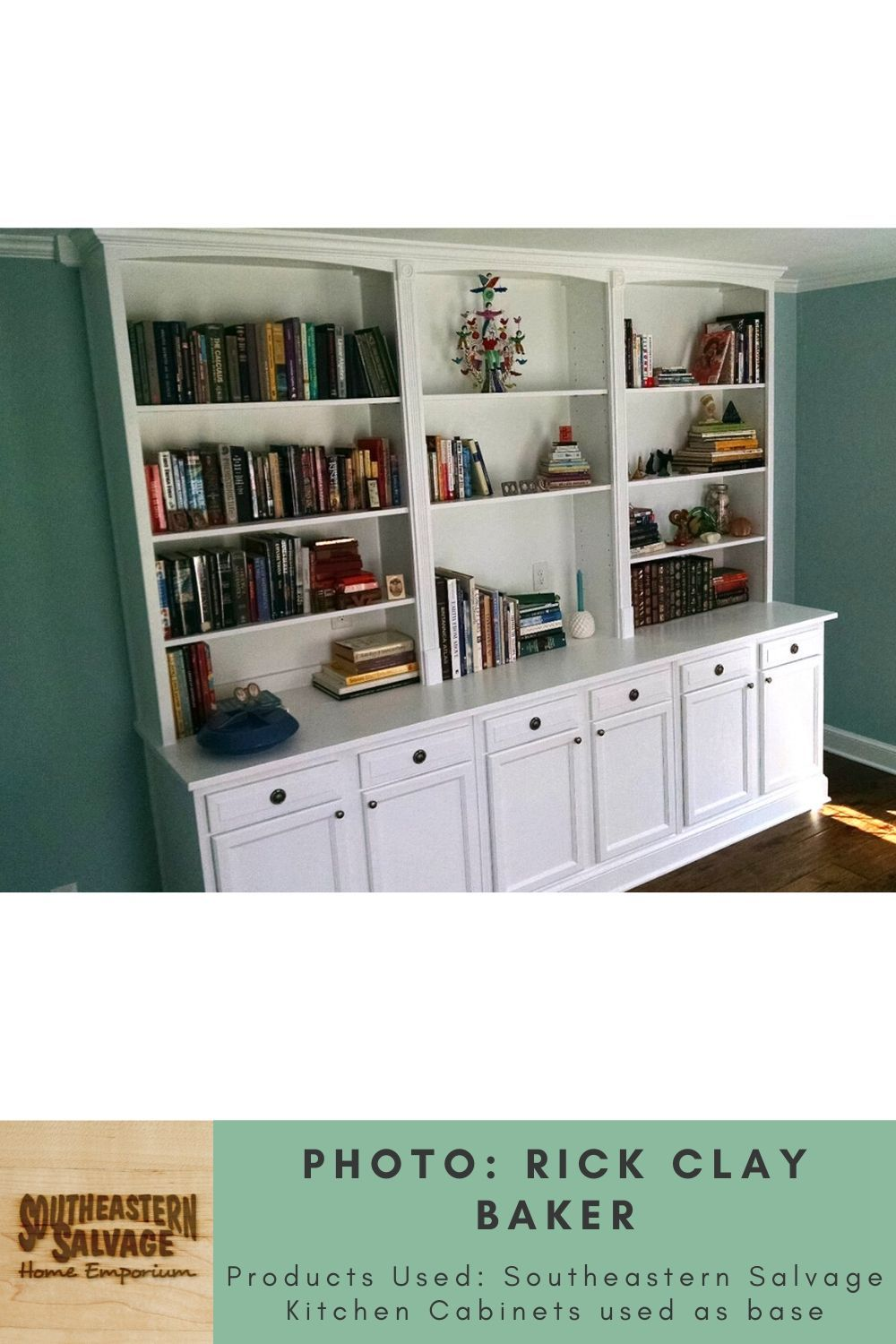 Built In Bookcase By Rick Clay Baker Southeastern Salvage Home Emporium In 2020 Built In Bookcase Bookcase Home