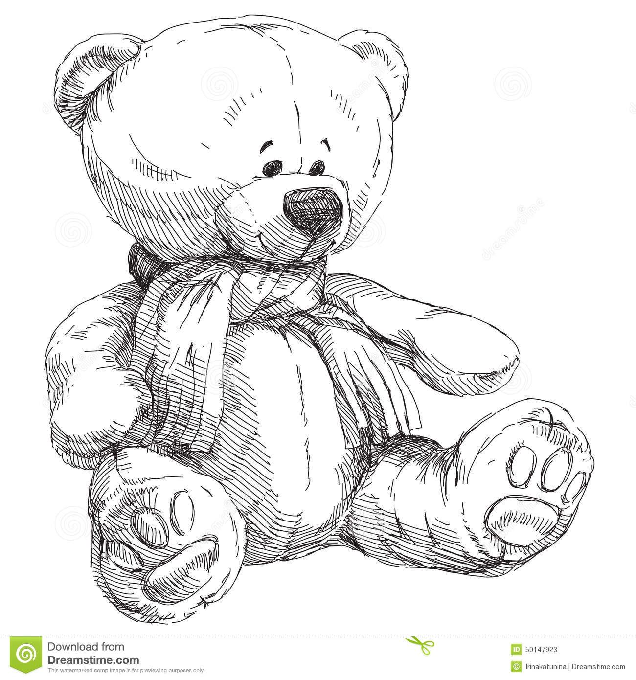 Hand Drawn Teddy Bear Stock Vector