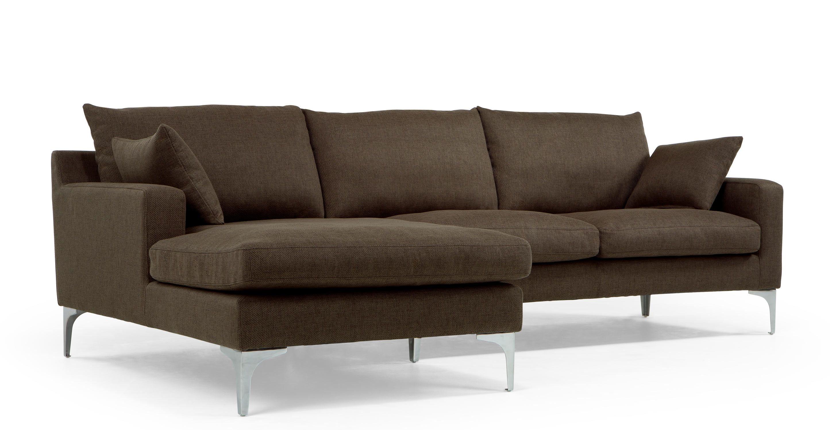 Mendini Left Hand Facing Corner Sofa Group Chocolate Brown Corner Sofa Sofa Masculine Living Rooms
