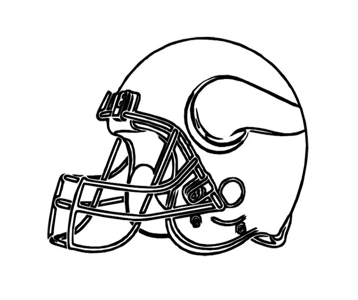 Football Helmet Vikings Minnesota Coloring Page For Kids Vikings