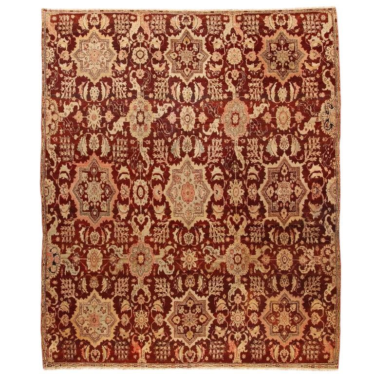 Exceptional Antique Early 19th Century Indian Agra Carpet Patterned Carpet Carpet Colors Where To Buy Carpet