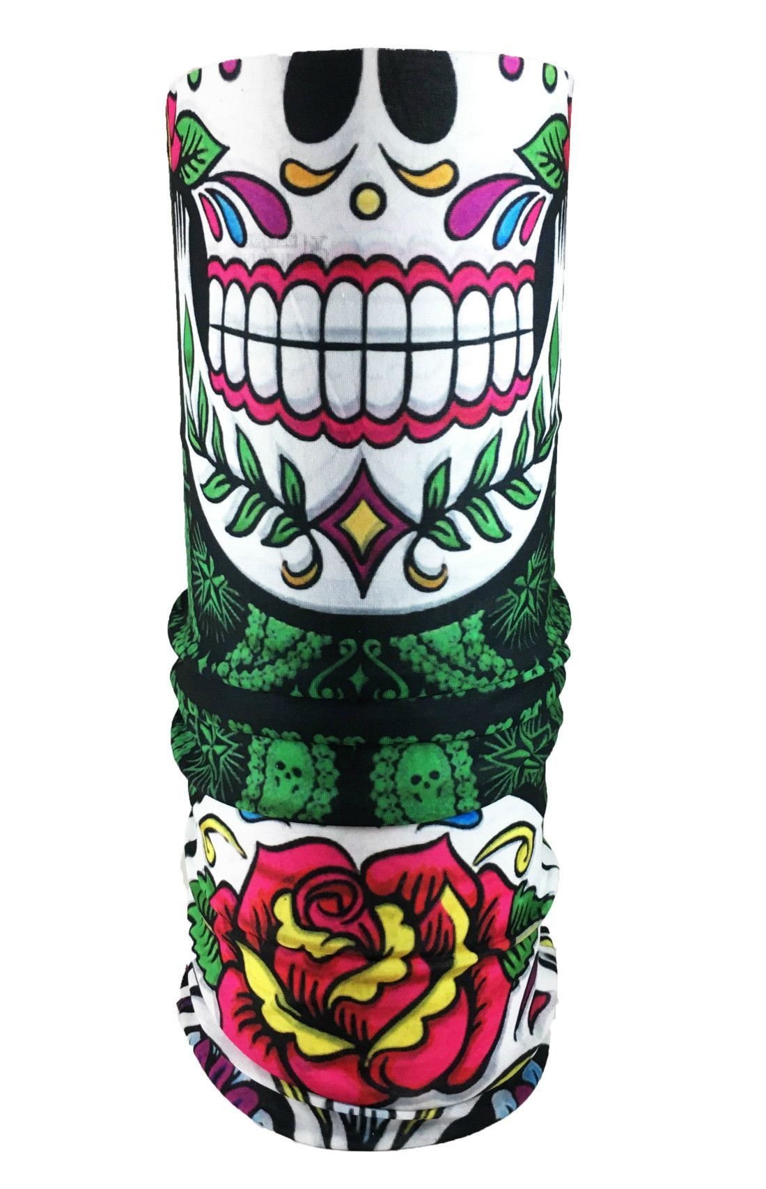 Day Of The Dead Skull Rave Bandana Multifunctional