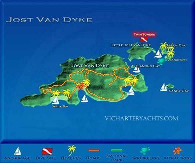 Jost Van Dyke British Virgin Islands Beach Vacation Information Oh
