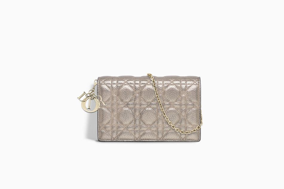32350937a6 LADY DIOR WALLET ON CHAIN CLUTCH IN COPPER-TONE METALLIC GRAINED CANNAGE  CALFSKIN - Lady Dior Dior