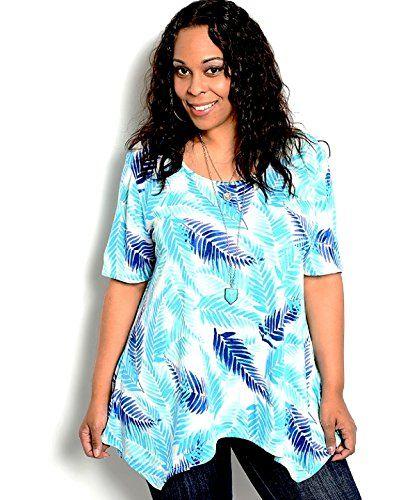 Joseph Q Women\'s Knit Top Plus Size Tropical Short Sleeve... http ...