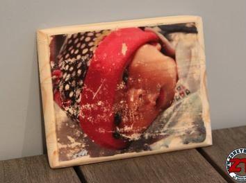 transfert de photo sur bois d co r cup bois customisation bricolage diy colle d fonceuse photo. Black Bedroom Furniture Sets. Home Design Ideas