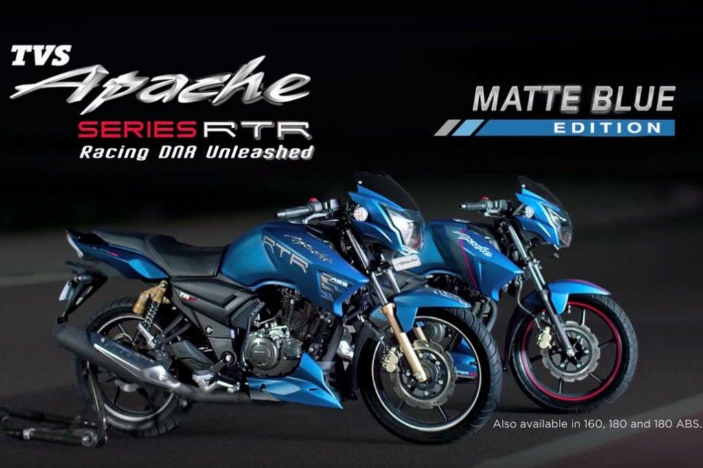Tvs Apache Rtr Matte Blue Edition Video Apache Rtr Blue