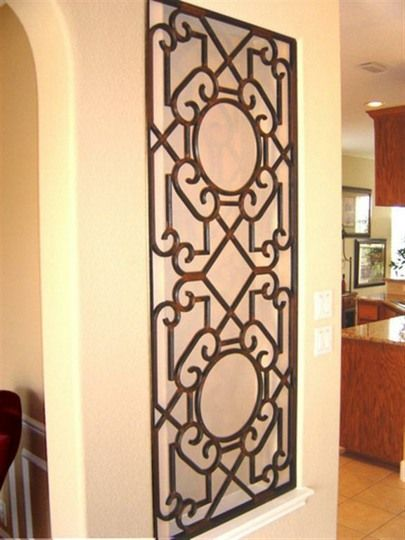 Fancy Wrought Iron Wall Art Decor Sketch - Wall Art Collections ...