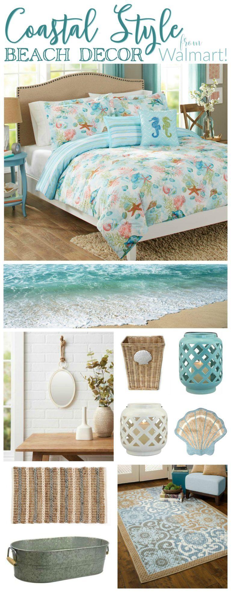 Coastal Style Beach Decor from Walmart | Coastal style, Coastal and ...