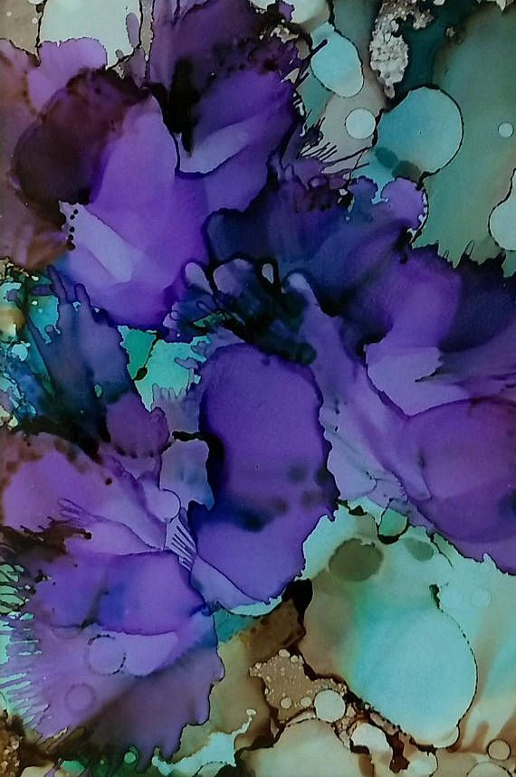 96 DIY Abstract Alcohol Ink Art Ideas - Page 4 of 10 #alcoholinkcrafts