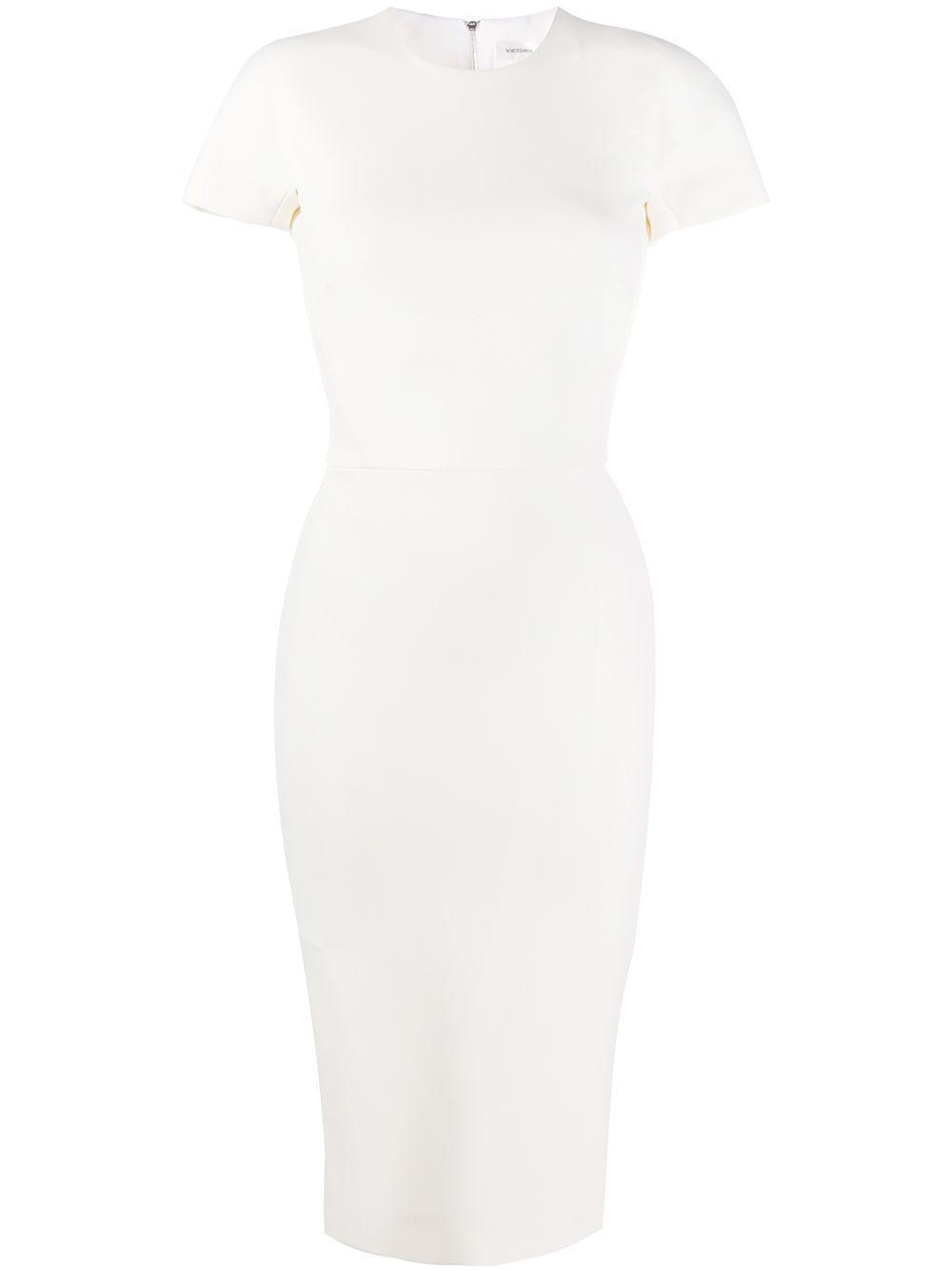 Victoria Beckham Cady Sheath Dress Farfetch Dresses Pretty Dresses Victoria Beckham [ 1334 x 1000 Pixel ]