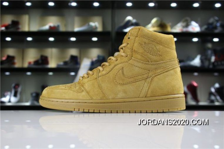Air Jordan 1 Retro High Og Wheat Golden Harvest 555088 710 2020